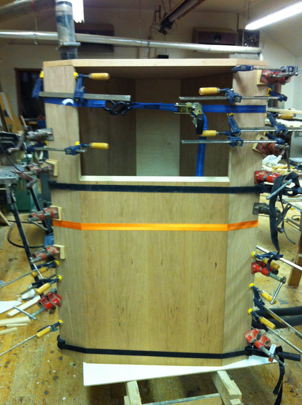Glue up - front of cabinet